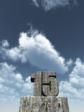 Fifteen. The number fifteen - 15 -  in front of blue sky - 3d illustration Stock Photo