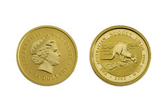 Fifteen australian dollars (gold) Stock Photos