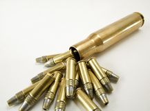 Fifteen cartridges Royalty Free Stock Images