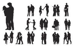 Fifteen couples Royalty Free Stock Photos