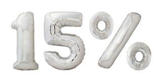 Fifteen percent chrome balloons Stock Photos
