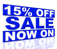 Fifteen Percent Off Shows At This Time And Clearance Stock Images