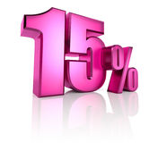 Fifteen Percent Sign Stock Photos