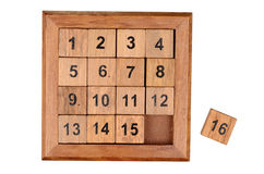 Fifteen puzzle Royalty Free Stock Photography