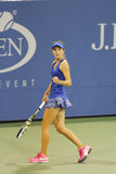 Fifteen years old tennis player Catherine Bellis during second round match at US Open 2014 Royalty Free Stock Images