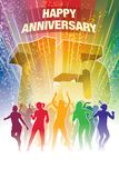 Fifteenth anniversary. Colorful crowd of dancing people celebrating fifteenth anniversary Royalty Free Stock Image