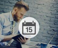 Fifteenth Appiontment notatki rozkładu kalendarza planu pojęcie obraz stock