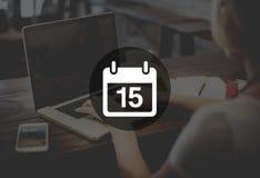 Fifteenth Appiontment notatki rozkładu kalendarza planu pojęcie zdjęcie stock