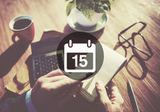 Fifteenth Appiontment notatki rozkładu kalendarza planu pojęcie obrazy stock