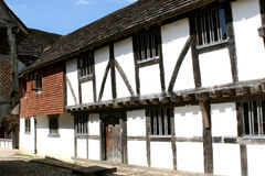 Fifteenth Century Arcade Three. A market hall from Hampshire, England in a fifteenth century shopping mall stock photos