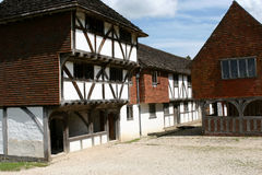 Fifteenth Century Shopping. A market hall from Titchfield Hampshire, England in a fiteenth century shopping mall royalty free stock photography