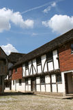Fifteenth Century Shopping. A market hall from Hampshire, England in a fifteenth century shopping mall royalty free stock image