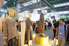 The fifteenth China (Shenzhen) international brand clothing apparel trade fair Royalty Free Stock Images