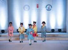Fifteenth serii children mody przedstawienie Fotografia Royalty Free