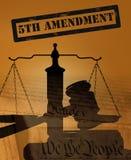 Fifth Amendment concept stock photos