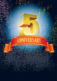 Fifth anniversary poster Stock Photography