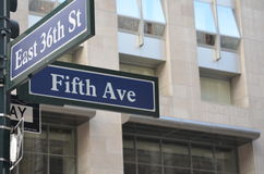 Fifth Ave Royalty Free Stock Image