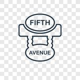 Fifth avenue concept vector linear icon isolated on transparent royalty free illustration