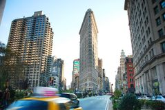 Fifth Avenue of New York City. With Flatiron building Royalty Free Stock Photo