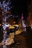 Fifth Avenue at Night Royalty Free Stock Photography