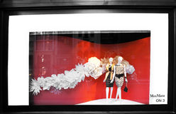 Fifth Avenue retail store window. Fifth Avenue, New York retail store window with fashion mannequins. February 2012 Max Mara stock image