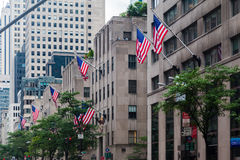 Fifth Avenue Rockefeller Center Royalty Free Stock Photos