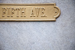 Fifth Avenue. Sign with plenty of copy space Stock Photo