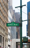 Fifth avenue sign. Fifth avenue street sign in midtown manhattan Royalty Free Stock Images