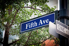 Fifth Avenue. Street sign in Manhattan Royalty Free Stock Image
