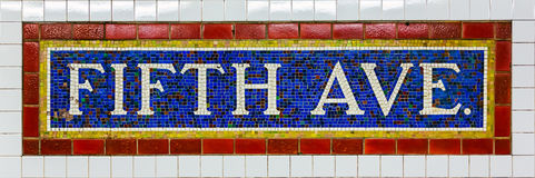 Fifth Avenue Subway Station Royalty Free Stock Photography
