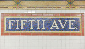 Fifth Avenue Subway Station, New York Royalty Free Stock Photography