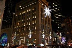 2015 Fifth Avenue -Vakantievensters 36 Royalty-vrije Stock Afbeelding