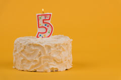 Fifth birthday cake Royalty Free Stock Image