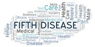 Fifth Disease word cloud. Wordcloud made with text only vector illustration