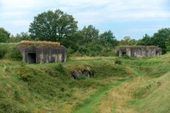 The Fifth Fort of Brest Fortress in Belarus. royalty free stock image