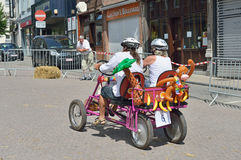 Fifth Gocarts race in historical center of Halle, Belgium Royalty Free Stock Photo