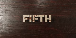 Fifth - grungy wooden headline on Maple  - 3D rendered royalty free stock image Royalty Free Stock Photos