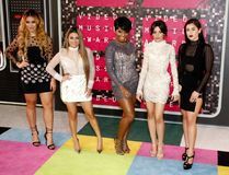 Fifth Harmony. LOS ANGELES, CA - AUGUST 30, 2015: Fifth Harmony at the 2015 MTV Video Music Awards held at the Microsoft Theater in Los Angeles, USA on August 30 Royalty Free Stock Photography