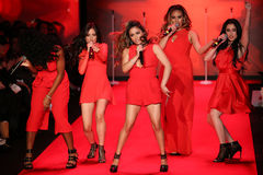 Fifth Harmony performs on the runway at the Go Red For Women Red Dress Collection 2015 Stock Photography