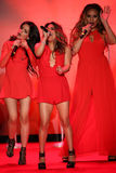 Fifth Harmony performs on the runway at the Go Red For Women Red Dress Collection 2015 Royalty Free Stock Images