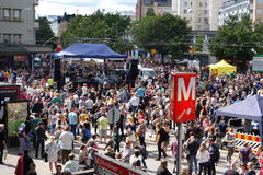 Fifth Kallio Block Party in Helsinki, Finland Stock Photo