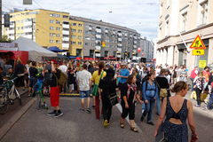 Fifth Kallio Block Party in Helsinki, Finland Royalty Free Stock Photography
