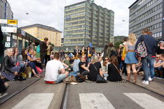 Fifth Kallio Block Party in Helsinki, Finland Stock Images