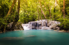 The fifth level of the Erawan Falls. Thailand Stock Photography