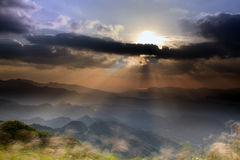 Fifth Mountain Sunrise, the new Taipei, Taiwan Royalty Free Stock Images