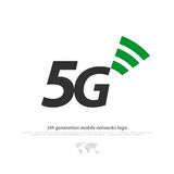 Fifth. New 5th generation mobile network logotype. vector 5G icon isolated on white background. high speed connection wireless systems sign. telecommunications Royalty Free Stock Photo