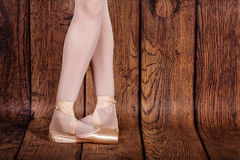 Fifth position in classical ballet. Ballet pas. Legs of ballerin Royalty Free Stock Image