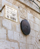 Fifth Stop at Via Dolorosa in Old City, Jerusalem Stock Images