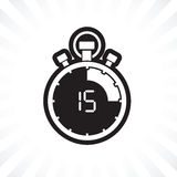 Fifth teen minute stop watch countdown. A fifth teen minute stop watch countdown royalty free illustration