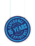 Fifth teen years experience stamp. Hanging fifth teen years experience stamp Royalty Free Stock Images